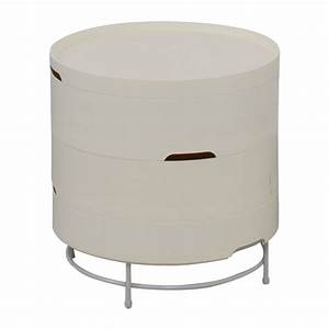 57 Off Ikea Ps 2014 White Round Storage Table Tables