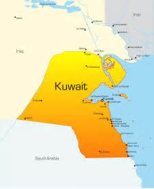 Kuwait Map with cities - blank outline map of Kuwait-