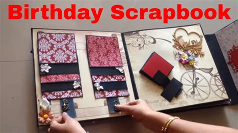 birthday scrapbook ideas youtube