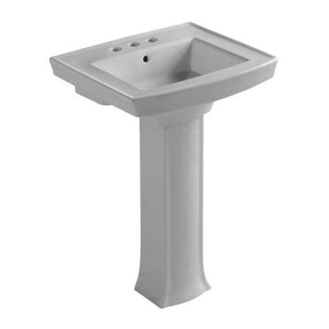 archer pedestal sink home depot kohler archer pedestal combo bathroom sink in grey k