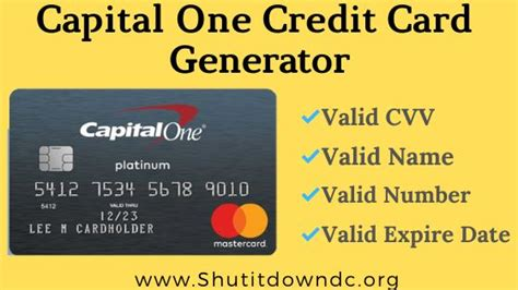 These card readers connect to your phone or tablet through the headphone jack or bluetooth and work using a credit card payment app that you've installed on your device. Capital One Credit Card Numbers Generator - Valid CVV Details | Visa card numbers, Credit card ...
