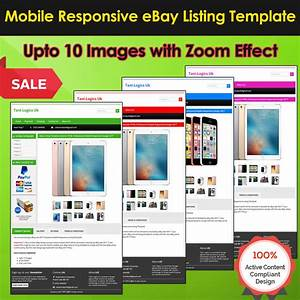 Ebay Listing Template Auction Html Professional Mobile