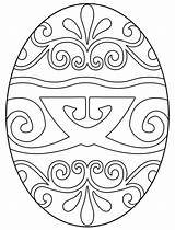 Easter Egg Coloring Pages Geometric sketch template
