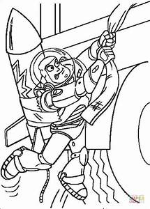 Buzz Lightyear Tries To Go Up Coloring Page Free