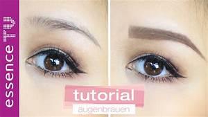 Perfekte Augenbrauen Routine Zupfen Schminken Formen