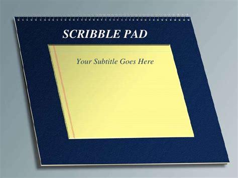 scribble pad design template