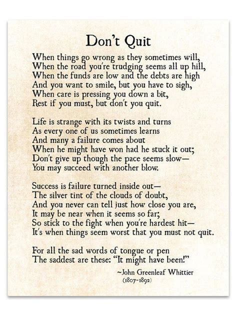 poem dont quit don poems greenleaf whittier john quote