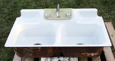 cast iron kitchen sinks vintage bowl cast iron porcelain kitchen farm sink 5134