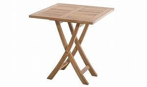 Petite Table Pliante : table d 39 ext rieur carr e pliante en teck massif brute delhi ~ Teatrodelosmanantiales.com Idées de Décoration
