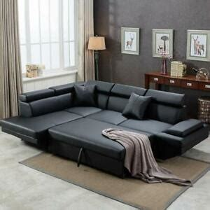 L Sofa Bed by Contemporary Sectional Modern Sofa Bed Black With