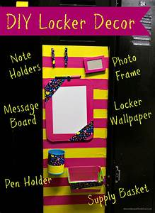 Locker Decor Diy Ideas - Diy (Do It Your Self)