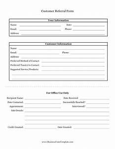 referral form template best business template With referral document template