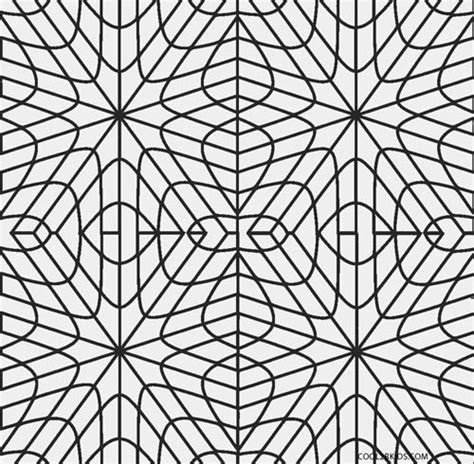 printable geometric coloring pages  kids coolbkids