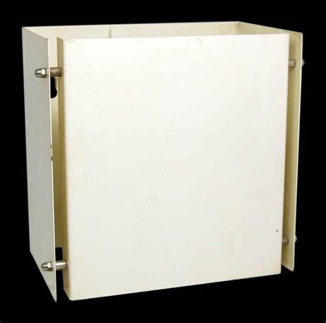 modern white box shaped wall sconce olde things