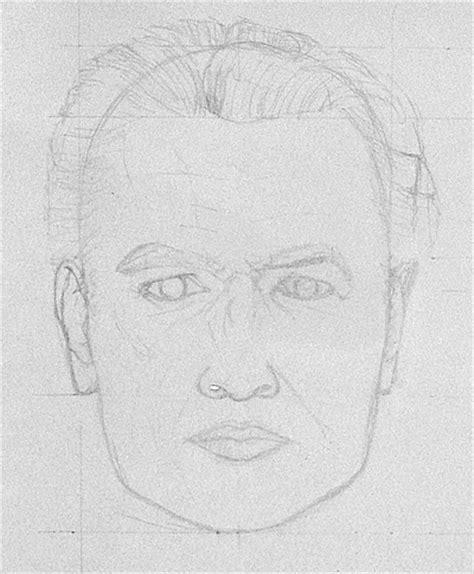 uebung portrait  der frontalansicht zeichnen