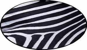 Teppich Rund Schwarz Weiß : teppich zala living animal print zebra in fell optik rund online kaufen otto ~ Buech-reservation.com Haus und Dekorationen