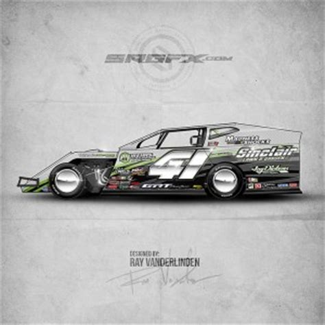 race car graphics design templates dirt modified archives school of racing graphics