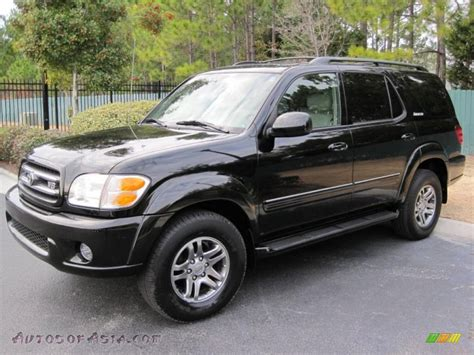 cars toyota black 2004 toyota sequoia limited 4x4 in black 207941 autos