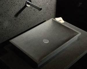 Lavabo En Pierre Naturelle : 17 meilleures id es propos de salle de bains en granit ~ Premium-room.com Idées de Décoration