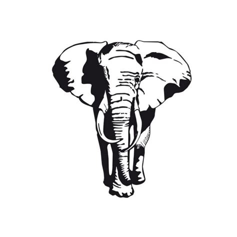 elephant silhouette front elephant i m into the graphical stencil quality