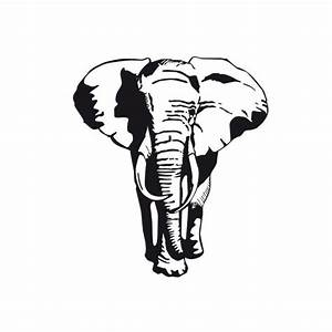 African Elephant - I'm into the graphical stencil quality ...