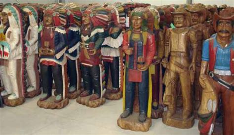hand carved cigar store indians   wooden figures