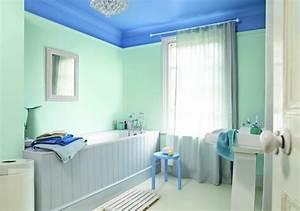 plafond salle de bain peinture et style en 40 idees With peinture plafond salle de bain