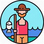Fisher Icon Fisherman Fish Fishmonger Fishing Icons