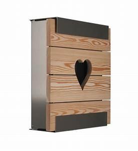 Briefkasten Aus Holz : design briefkasten holz mit herz im greenbop online shop kaufen ~ Udekor.club Haus und Dekorationen