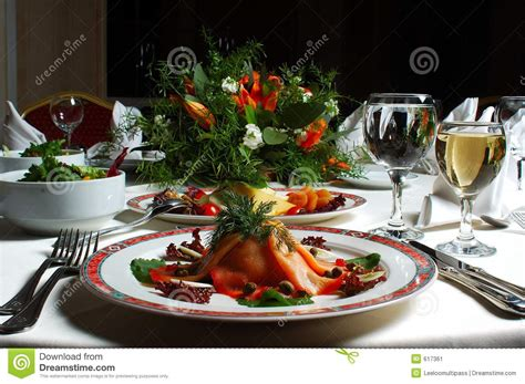 fancy dinner stock image image 617361