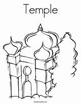 Temple Coloring Mosque Pages Judaism Synagogue Mitzvah Bar Twistynoodle Outline Login Favorites Noodle Built California Usa Tracing David 886px 95kb sketch template