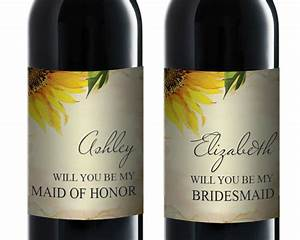 bridesmaid proposal wine label will you be my bridesmaid With will you be my bridesmaid wine label template