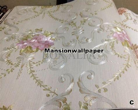 Wallpaper Dinding Klasik Elegan jual beli wallpaper dinding bunga klasik elegan