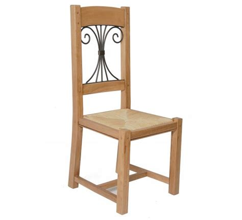 chaise h et h chaise chêne massif fer forgé batista 1477