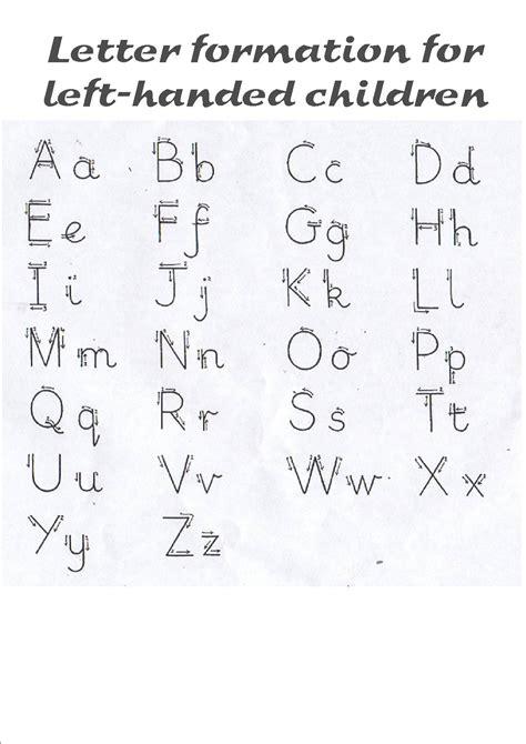 letter formation left handed   left handed