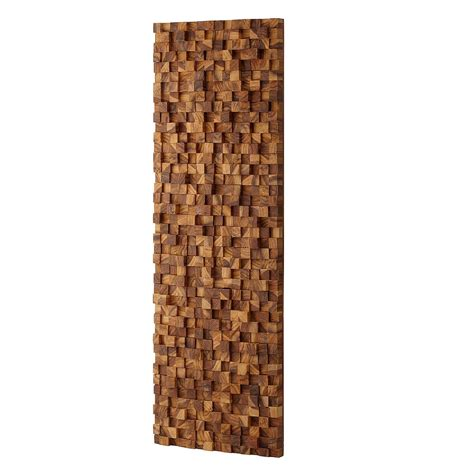 rectangle takara wall art teak wood  art uncommongoods
