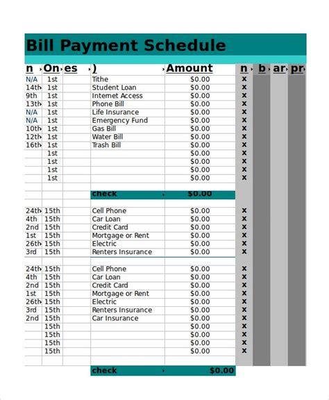 excel schedule template    word
