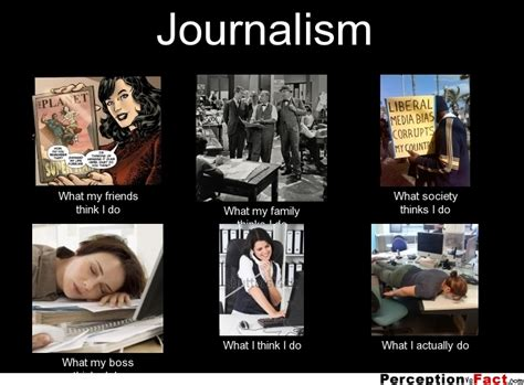 Journalism Meme - journalism what people think i do what i really do perception vs fact