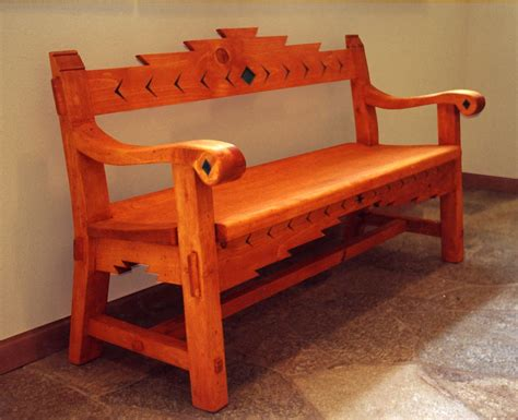 sante fe style bench products  love southwestern
