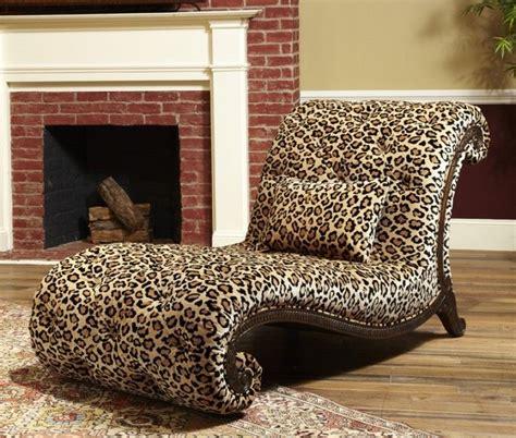 leopard printed chaise longue cheetah print
