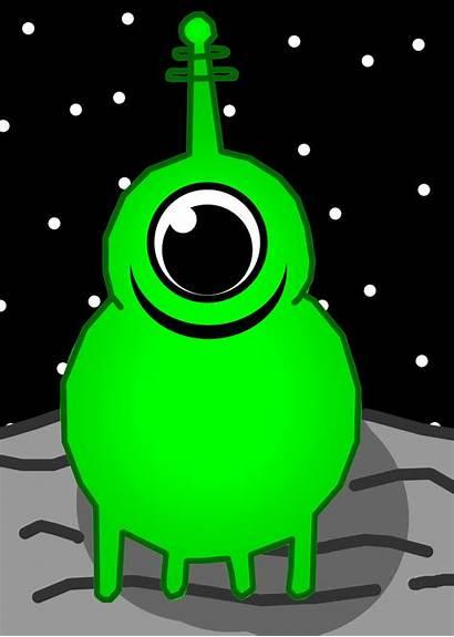 Clipart Alien Space Martian Clip Cartoon Aliens
