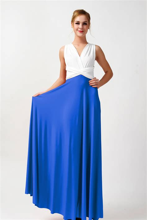 two color dress two colors convertible bridesmaid dresses ivory and cobalt