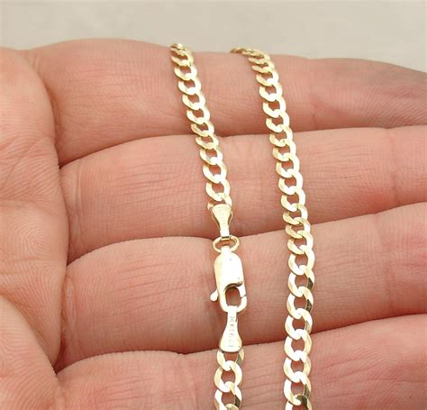 mm solid miami cuban curb link ankle bracelet anklet