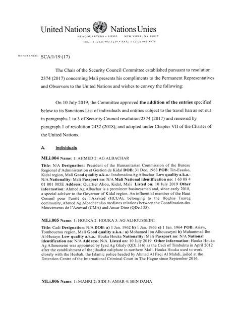 Par grozījumiem ANO sankciju sarakstos