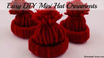 how to make a mini winter hat ornament homestead acres