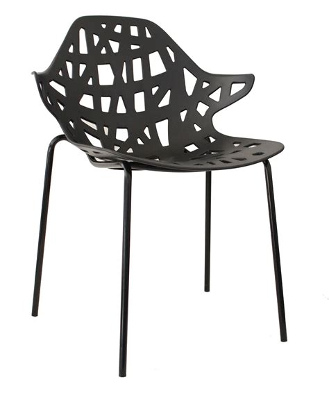 chaise design metal noir chaise design métal pvc coloris noir lot de 4 graphic