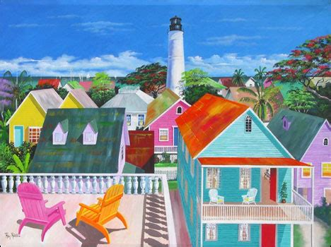 colors on white key west colors of key west original acrylic painting