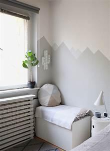 Babyzimmer Wandgestaltung Ideen : mountain nursery wallpaint wandgestaltung im babyzimmer ~ Sanjose-hotels-ca.com Haus und Dekorationen