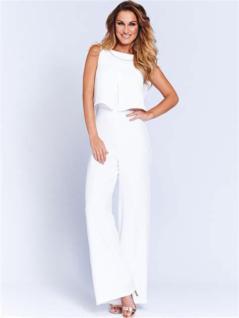 white jumpsuit for wedding white sam faiers jumpsuit simple conservative and