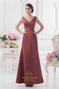 Maroon dresses for promv neck a line bridesmaid dress for Maroon dresses for wedding